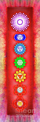 Tantra Digital Art - The Seven Chakras - Series 6 Artwork 2-2 by Dirk Czarnota