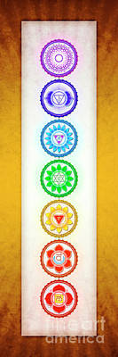 Tantra Digital Art - The Seven Chakras - Series 6 Golden Yellow by Dirk Czarnota