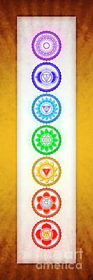 The Seven Chakras - Series 6 Golden Yellow Art Print by Dirk Czarnota