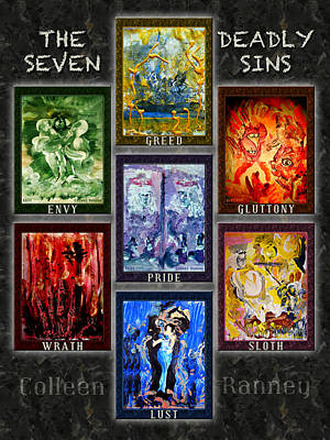 Sloth Painting - The Seven Deadly Sins by Colleen Ranney