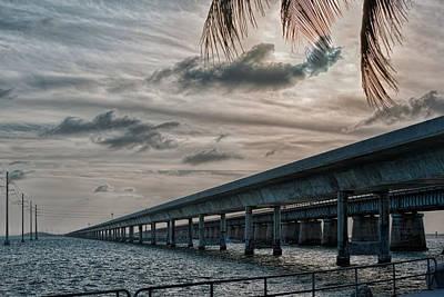 Photograph - The Seven Mile Bridges by John M Bailey