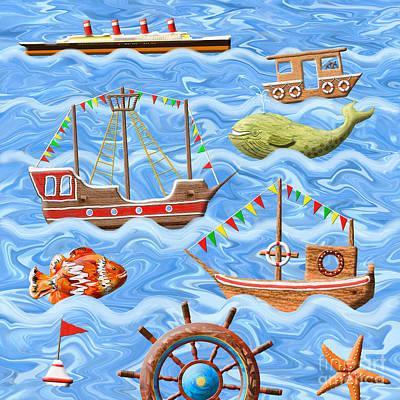 Toy Boat Digital Art - The Seven Seas by Grigorios Moraitis