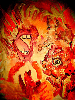 Painting - The Seven Sins Gluttony by Colleen Ranney