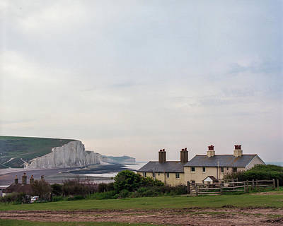 Photograph - The Seven Sisters And Coast Guard Cottages by Will Gudgeon