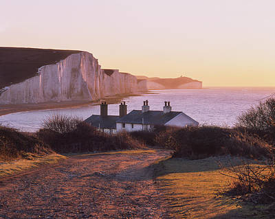 Photograph - The Seven Sisters Cottages by Will Gudgeon