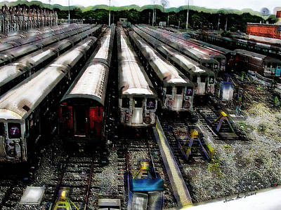 The Seven Train Yard Queens Ny Art Print