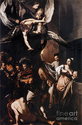 Caravaggio Painting - The Seven Works Of Mercy by Celestial Images