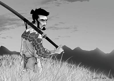 Digital Art - The Seventh Samurai by Justin Peele