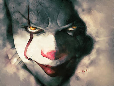Digital Art - The Sewer Clown by Charlie Roman