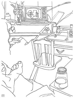 Drawing - The Sewing Room by Stan  Magnan