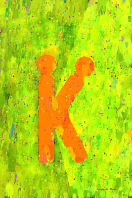 The Sexy K  - Orange -  - Da Art Print