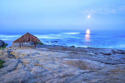 Surf Shack Photograph - The Shack And The Moon  by Joseph S Giacalone
