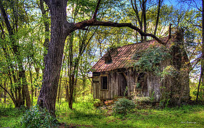 Old Home Place Photograph - The Shack Aunt Mitiz Place Art by Reid Callaway