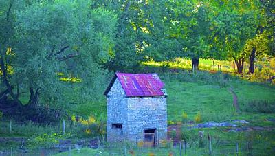Photograph - The Shack In The Woods by Tracy Rice Frame Of Mind