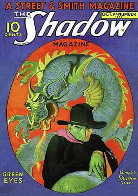 The Shadow Green Eyes Art Print