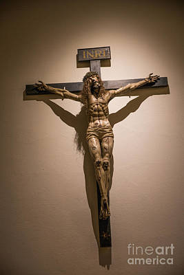 Religious Jesus On Cross Photograph - The Shadow by Lynn Sprowl