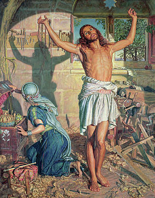 Son Of God Painting - The Shadow Of Death by William Holman Hunt