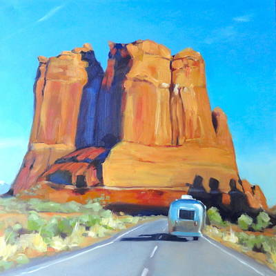 Painting - The Shadow Of The Three Gossips Arches Utah by Elizabeth Jose