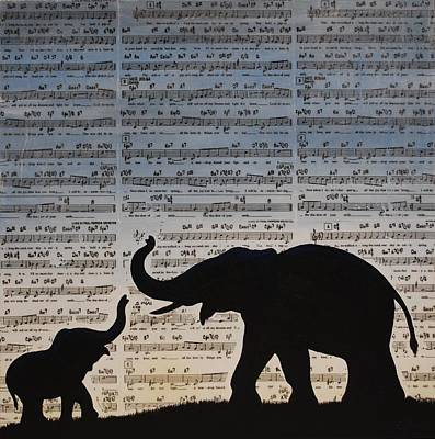Happy Elephant Painting - The Shadow Of Your Smile by Emily Page