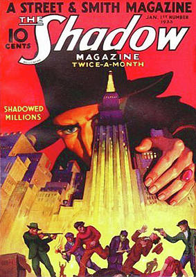 Giant Painting - The Shadow Shadowed Millions by Conde Nast
