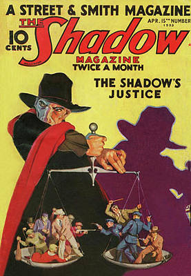 Painting - The Shadow The Shadows Justice by Conde Nast