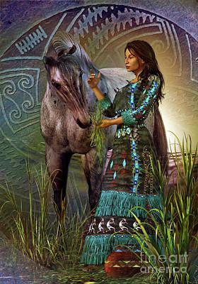 Digital Art - The Horse Whisperer by Shadowlea Is