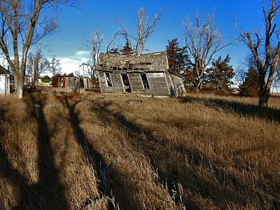 Shed Photograph - The Shadows Know by Lynne and Don Wright