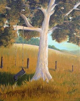 Painting - The Shadows Of Childhood by T Fry-Green
