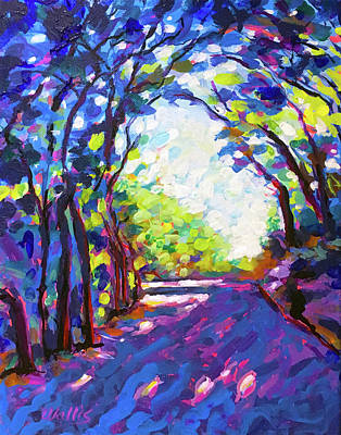 Wall Art - Painting - The Shady Lane by Charles Wallis
