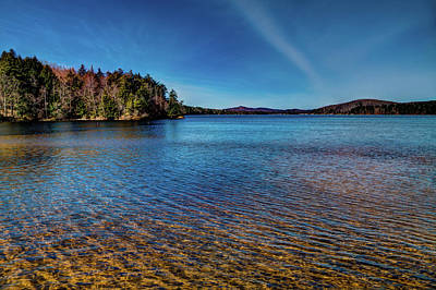 The Shallow Water Of 7th Lake Art Print by David Patterson