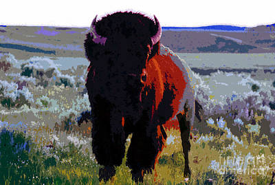 Buffalo Art Digital Art - The Shamans Buffalo by David Lee Thompson