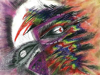 Hallucination Painting - The Shaman's Journey #616 by Rainbow Artist Orlando L aka Kevin Orlando Lau