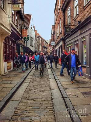 Photograph - The Shambles Shopping York by Joan-Violet Stretch