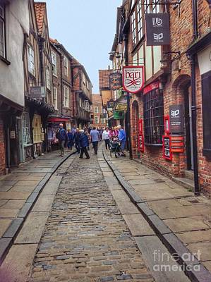 Photograph - The Shambles Shopping York 2 by Joan-Violet Stretch
