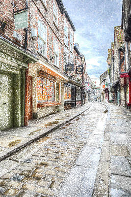 Photograph - The Shambles York Snow Art by David Pyatt