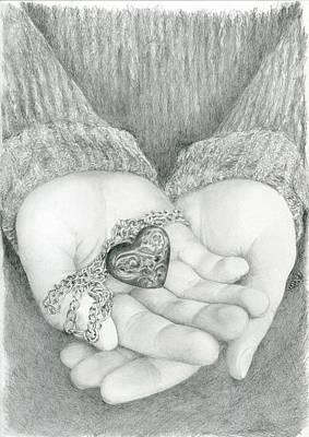 Drawing - The Shape Of My Heart by Bitten Kari