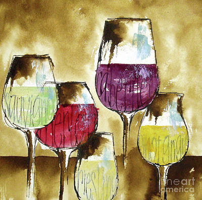 Wall Art - Painting - The Shape Of Wine 1 by Chris Paschke
