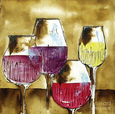 Wall Art - Painting - The Shape Of Wine 2 by Chris Paschke