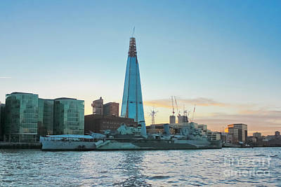 Photograph - The Shard And Hms Belfast by Terri Waters