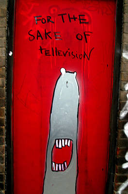 The Sharker Side Of Tv Art Print by Jez C Self