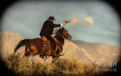 Gunfight Digital Art - The Sharp Shooter Western Art By Kaylyn Franks by Kaylyn Franks