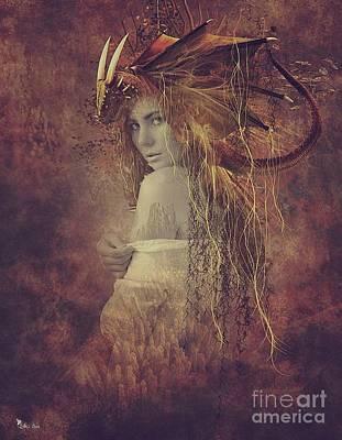 Digital Art - The She Dragon  by Ali Oppy