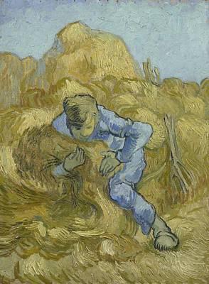 Painting - The Sheaf Binder After Millet  Saint Remy De Provence September 1889 Vincent Van Gogh 1853  1890 by Artistic Panda
