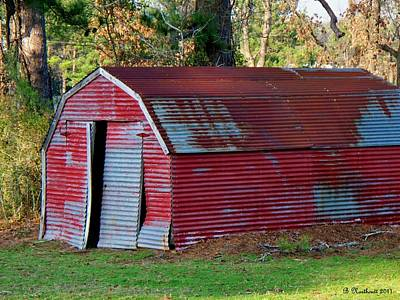 The Shed Art Print by Betty Northcutt