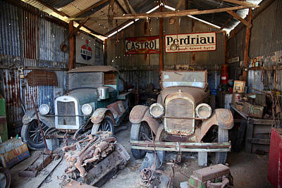 Chev Pickup Photograph - The Shed by James Mcinnes