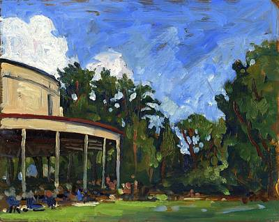 Abstract Realist Landscape Painting - The Shed Tanglewood by Thor Wickstrom