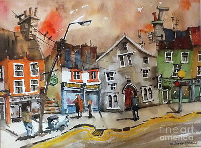 Painting - The Shee Alms House.. Kilkenny by Val Byrne