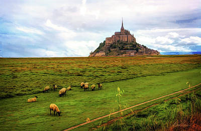 Photograph - The Sheep Of Mont Saint Michel by Diana Haronis