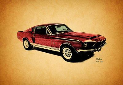 The Shelby Gt500 Art Print