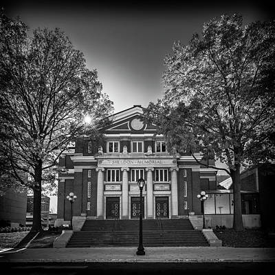 Photograph - The Sheldon Concert Hall Bnw 7r2_dsc2937_11242017-hdr by Greg Kluempers